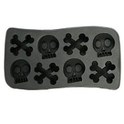 Gothic Decor Novelty Pirate Theme-SKULL and CROSSBONES ICE CUBE TRAY JELLO SHOTS MOLDS-Costume Party Halloween Haunted House Decoration Cocktail Drink Bar Accessory DIY Crafts Forms Supplies