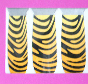 Punk Rave Rockabilly Diva-NAIL POLISH STICKERS-Wild Animal Lolita Cosplay Halloween Costume Accessory-TIGER ZEBRA