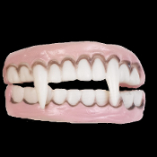 Cheap Wholesale Discount Novelty Character TEETH Costume Accessory, Vampire Monster Werewolf FANGS, Gag Tooth Black, Fake Gold Tooth Caps, Rotting Zombie Teeth Cosplay Costume Accessories