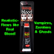 True Horror Realistic FX Fake Faux TUBE of ZOMBIE VAMPIRE BLOOD Walking Dead Dracula Twilight Diaries Living Undead Cosplay Halloween Costume Special Effects Make-up Prosthetic Prop Accessory