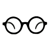 Steampunk Teacher School Boy Girl-OWL GLASSES-Harry Potter Cosplay Costume Accessory. Essential geek gear to make an ideal anti-fashion statement. Black plastic frames and clear lens are extremely sturdy, lightweight and nerdy