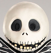 Full Head JACK SKELLINGTON MASK Gothic Horror Nightmare Before Christmas Holiday Movie Animation Character Cosplay Halloween Skull Skeleton Costume Accessory - Complete dimensional over-the-head adult size vinyl mask with screen eyes!