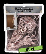 Creepy Haunted House Halloween Decoration ZOMBIE INVASION DOOR DECOR Scary Gross Walking Dead Party Prop - Warning: Zombies are invading your haunted house! Gruesome gross corpses are coming, ready to eat your brains! Try to stop him from attacking!