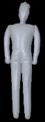 INFLATABLE MANNEQUIN PROP DUMMY Life-Size Halloween Shop Display-MALE - Need an extra dead body in your haunted house? Lightweight spooky Halloween props. Use every holiday season of the year. Props can be deflated for easy storage fully dressed!