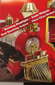 New Christmas Tree SANTA'S JUMBO EXPRESS SMOKING 4-pc TRAIN SET Holiday Railway Decoration. Working head light, whistle, realistic Choo-Choo sound! Real SMOKE action! Big Engine, 2 cars, Caboose. 4-ft diameter track. Switch: forward, reverse, stop.