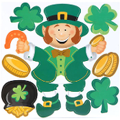 New LEPRECHAUN POT O GOLD SHAMROCKS PUZZLE MAGNET SET Novelty Lucky Irish St Patrick Theme Holiday Gift Party Decoration. Use on Refrigerator, File Cabinet, Metal Garage Door, School Locker, Dishwasher, Car, Truck, Smooth Metal Surfaces. Fun for all!