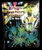 Gag Gift MAGIC GLOW TARANTULA SPIDERS TOYS - 6 piece SET Arachnophobia Bug Insect Decoration Horror Halloween Prop Voodoo Witch Doctor Mad Scientist Laboratory Science Project Party Favor. 2.5-inch wide Amazing Arachnid Spiders that GLOW IN THE DARK!