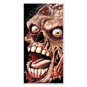 Gothic Walking Dead ZOMBIE ATTACK GIANT HEAD FACE DOOR COVER MURAL Halloween Haunted House Costume Party Decoration Apocalypse Horror Movie Window Wall Hanging DIY Living Undead Cemetery Graveyard Prop Building Supplies