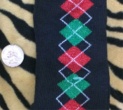 Funky Christmas Novelty-CUTE GLITTER ARGYLE KNEE HIGH SOCKS Diva Lolita Holiday Stockings Stuffer. UNISEX Holiday Clothing Accessory Gift. Black, with Red and Green Sparkle. Stockings fit women's shoe sizes 4-10.