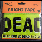Gothic Zombie Pirate Skull & Crossbones-DEAD END-Warning Fright Caution Barricade Border Tape Ribbon Halloween Cosplay Costume Party Decoration Haunted House Cemetery Graveyard Living Dead Vampire Undead Walking Dead Horror Prop Lawn Yard Decor-30ft
