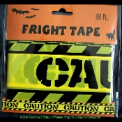 Zombie Prop Building-CAUTION-Barricade Fright Tape-Costume Party Decoration-30ft-Use indoors or out... Wrap around a table, swag from windows or as decorative door toppers. Looks great on tables, mantels, doorways and more.