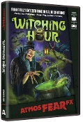 Amazing Realistic Animated Digital Special Effects WITCHING HOUR AtmosFEARfx Illusions FX DVD. Visit deep into a witch lair where bats, black cats and ravens toil thru the night! A cloaked enchantress brews magic spells, conjuring whimsical spirits.