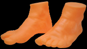 Life Size Realistic Fake Adult Feet SET Stage Prop Gag Trick Body Parts. Fun phony pair of Feet will add some kick to your Halloween horror prop building decorations! Life-like Cut-off feet, perfect for practical jokes or haunted house display.