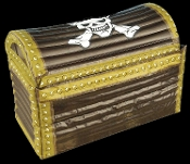 Inflatable Pirate Chest Cooler is a real treasure! Rustic look Blow-Up Prop with Skull and Crossbones design. Great accessory and also as a cooler for cans or bottled drinks, as well as jello shots! Spice up a Halloween, pirate or luau themed party.