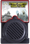 XTreme FX Haunted House in a box! Place this small special sound effects box in a bush or closet. Set to steady-on or motion-sensor to trigger a variety of creepy sounds. Plays 27 different alternating haunting sounds with each sensor activation.