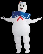 A favorite Ghostbusters character, the Airblown Inflatable Sta-Puft Marshmallow Man! Includes separate headpiece, unisex jumpsuit with fan and battery pack required to fully inflate the costume for hours. Fits most adults 5 to 6-feet tall.