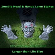 Creepy Larger than Life Size Body Parts ZOMBIE GROUND BREAKER Lawn Yard Halloween Horror Party Decoration Spooky Indoor Outdoor Cemetery Graveyard Scene Setter. This scary outdoor prop display will cause unsuspecting victims to run for their lives!