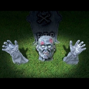 Cheap Wholesale Discount STATIC and Lighted GROUND BREAKERS, Creepy Groundbreakers - Scary Indoor Outdoor Halloween Cemetery Graveyard Spooky Haunted House Horror Props Decorations Yard Decor - NOT Moving - These Props Do NOT Move.