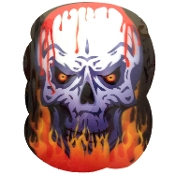 Evil Creepy Demon Scary Gothic BLOODY SKULL Engulfed in Flames FLICKER PICTURE Halloween Decoration Lenticular HOLOGRAPHIC Dimensional Haunted House Prop Door Decor Wall Hanging. Demonic Flaming Skull optical illusion HOLOGRAPH Lenticular PORTRAIT.