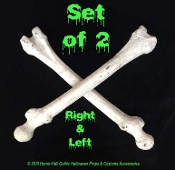 Life Size Human Skeleton Anatomy-BUDGET Generic FEMUR LEG or HUMERUS ARM BONES SET-Halloween Decorations Pirate Decor DIY Prop Building Supplies. Pair of TWO (2) economy faux skelaton parts. Realistic aged bones, left and right. Make your own props!