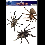 Creepy Gothic Horror Realistic Dimensional 3D-SPIDERS TARANTULA ATTACK INFESTATION-Spooky Halloween Haunted House Prop Scary Party Decoration Bathroom Mirror Window STICKY CLING Glass Door Decor Refrigerator Appliance Sticker Car Decal-Grabber Tattoo