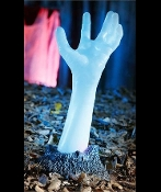 LED Creepy Life Size LIGHT-UP COLOR CHANGING SEVERED ZOMBIE HAND Halloween Haunted House Ground Breaker Indoor Outdoor Lawn Yard Cemetery Graveyard Garden Prop Decoration. Monster ghoul arm is reaching from his grave to scare unsuspecting visitors!