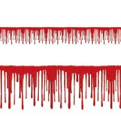 Realistic Creepy DRIPPING BLOODY BORDER Gothic Cosplay Costume Party Psycho Zombie Horror Decor Gory Murder Scene Setter Wall Trim Haunted House Halloween Party Decoration Cemetery Graveyard Morgue Backdrop Prop Building-25 Feet Long