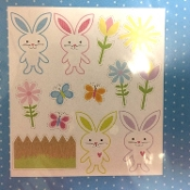 Cute Springtime Novelty Fun EASTER BUNNY FLOWERS FENCE BUTTERFLY PUZZLE MAGNETS Spring Holiday Prop Gift School Party Favor Basket Stuffer Decoration SET-Large Flexible Vinyl. Refrigerator, School Locker, Dishwasher, Car, most Smooth Metal Surfaces.