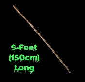Cheap Budget Friendly Classic Gothic Medieval Wood Branch Look PLASTIC STAFF WALKING STICK CANE Sorceress Wizard Witch Warlock Bible Character Haunted House Prop Fake Weapon Cosplay Costume Accessory Halloween Decoration-FIVE FEET LONG