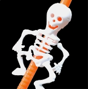 Gothic Pirate Theme Black White Novelty SKELETON DRINK STRAWS. Durable Spooky Day of the Dead Halloween Decorations Skulls Treat Bag Party Favors Prizes. Funny jointed arms and legs will tickle your funny bone. Ghoulish silly way to sip witch's brew!