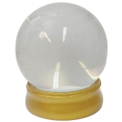 CRYSTAL BALL with STAND Haunted House Theater Prop Halloween Decoration Gypsy Fortune Teller Witch Costume Accessory-Glass water-filled globe faux crystal ball on golden base. 6-inch diam. Not made of actual crystal. Not a real metaphysical product.