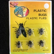 Realistic Size Classic Creepy Life Size FLY FLIES Scary Bugs Insects Gothic Halloween Haunted House Cemetery Graveyard Props Witch, Zombie, Dead Body, Morgue, Laboratory Costume Accessory Prank Joke Gag Gift. Approx 3/4-inch diameter- 6 pack card