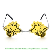 Rare Retro Discontinued Officially Licensed Peanuts WOODSTOCK GLASSES SUNGLASSES Snoopy BFF Friend Yellow Bird Charlie Brown Comics UV400 Collectible Cartoon Character Cosplay Costume Party Accessory-Rimless Frameless Lenses-Brand Dr Peepers elope