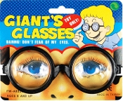 Steampunk Teacher Nerd Funny Minions-ROUND BLACK FRAME GEEK TOY Slightly MAGNIFYING EYE GLASSES Gag CLEAR Coke Bottle THICK Lense-Nutty Professor Mad Doctor Scientist Insane Asylum Cosplay Halloween Costume Party Accessory Novelty Play Eyewear