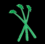 Luau Jungle GREEN PALM TREE COCKTAIL STIRRERS Tiki Bar Pub Swizzle Sticks Pirate Party Safari Theme Decoration Props-10pc SET. New re-usable translucent Plastic drink stirs. Bright Colorful TROPICAL Island Hawaiian Polynesian Cocktail Accessories.