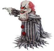 18in Lurching JUMPING CREEPY CLOWN Scary Sound LED Animated Prop