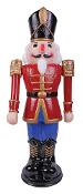 3-Feet Red Blue ANIMATED MUSICAL NUTCRACKER Christmas Decoration