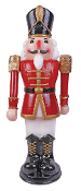 3-Ft Red White ANIMATED MUSICAL NUTCRACKER Christmas Decoration