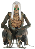 3Ft ANIMATED CROUCHING BONES Zombie Growl Lighted Halloween Prop