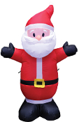 4-Ft SANTA INFLATABLE w-LIGHTS Christmas Holiday Yard Decoration