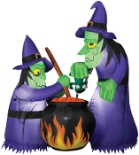 6Ft AIRBLOWN WITCH CAULDRON Light Inflatable Halloween Yard Prop
