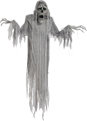 6Ft ANIMATED HANGING PHANTOM Talking Lighted Eyes Halloween Prop