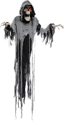 6Ft ANIMATED HANGING REAPER Talking Light-up Eyes Halloween Prop