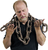 80-inch REALISTIC LARGE RUSTED CHAIN Rusty Brown Halloween Prop