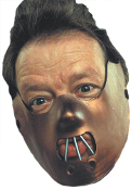 Adult ECONOMY Cannibal RESTRAINT MUZZLE Insane Asylum Crazy Nuthouse Patient Half Mask Halloween Cosplay Costume Accessory for any Haunted House psych ward asylum character. Mask only - *Does NOT include Shirt*