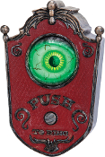 ANIMATED DOORBELL w-MOVING EYE BALL Spooky Sounds Halloween Prop