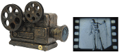 Creepy, old-timey looking projector that shows a rickety dancing skeleton on your wall or screen when activated. Film reels actually turn to give the most realistic look possible! Try me or sound activation included.