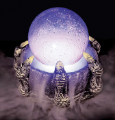 Claw Hand Lighted CRYSTAL BALL MISTER Halloween Prop Decoration