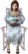Deluxe Life Size Animated ROCKING MOLDY MOMMY Haunted House Prop
