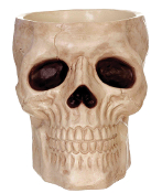 Deluxe Plastic SKELETON SKULL CANDY BOWL Halloween Decoration